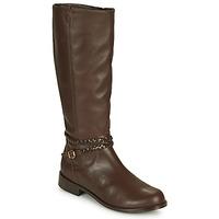 Shoes Women High boots So Size AURELIO Brown