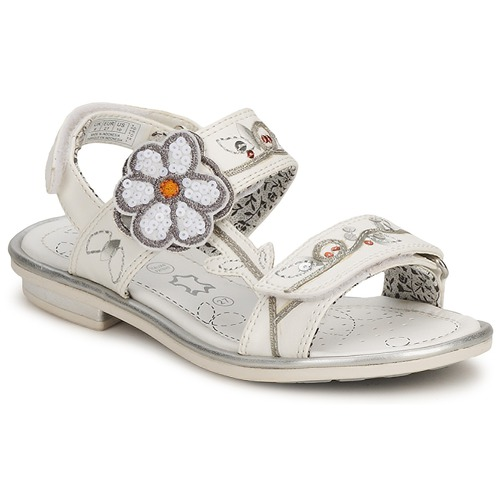 Shoes Girl Sandals Geox PRETTY GIGLIO White