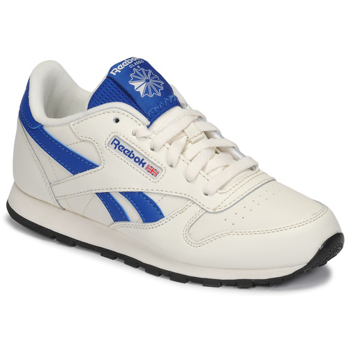 Shoes Children Low top trainers Reebok Classic CLASSIC LEATHER White / Blue