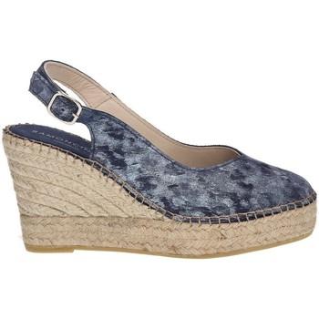 Shoes Women Espadrilles Ramoncinas STONY TESHUB ESPADRILLES POINTED CHOCOLATES BLUE
