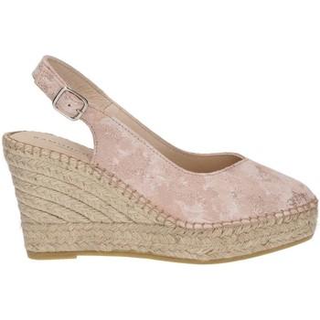 Shoes Women Espadrilles Ramoncinas STONY TESHUB ESPADRILLES POINTED CHOCOLATES ROSE