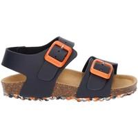 Shoes Boy Sandals Garvalin BIO TYRION SANDAL NAVY BLUE