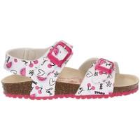Shoes Girl Sandals Garvalin BIO CHERRIES SANDAL WHITE