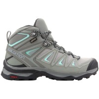 Shoes Women Walking shoes Salomon X Ultra 3 Wide Mid Gtx Grey