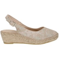 Shoes Women Espadrilles Ramoncinas ROASTED RIPPED ESPADRILLES STORM ORO