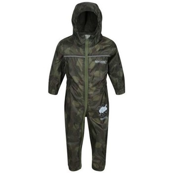 Clothing Children Jumpsuits / Dungarees Regatta PUDDLE IV Waterproof PuddleSuit Oxford Blue Green Green