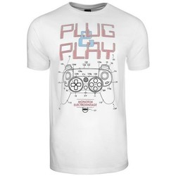 Clothing Men Short-sleeved t-shirts Monotox Plugplay White