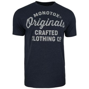 Clothing Men Short-sleeved t-shirts Monotox Originals Crafted Navy blue