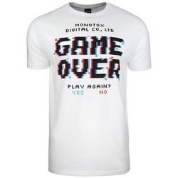 Clothing Men Short-sleeved t-shirts Monotox Game Over White