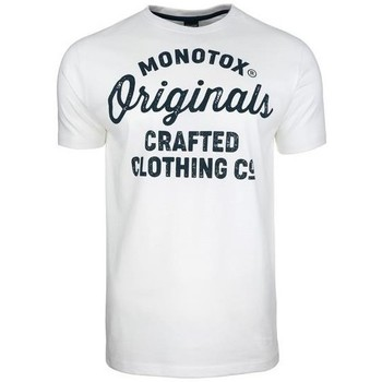 Clothing Men Short-sleeved t-shirts Monotox Originals Crafted White