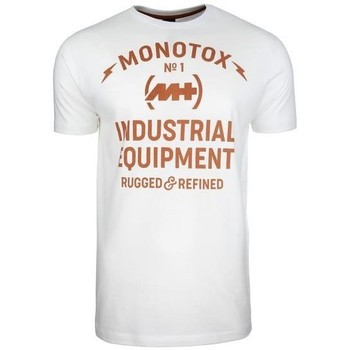 Clothing Men Short-sleeved t-shirts Monotox Industrial White