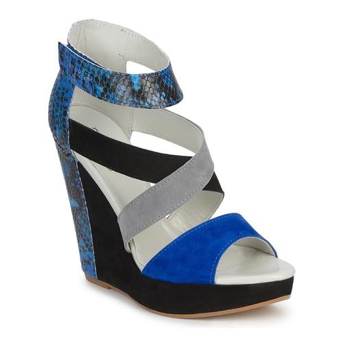 Shoes Women Sandals Serafini CARRY Black / Blue / Grey