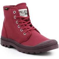 Shoes Men Hi top trainers Palladium Pampa HI Oryginale 75349-604-M burgundy