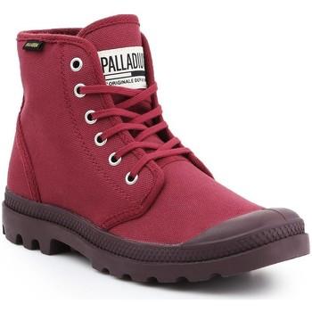 Shoes Men Hi top trainers Palladium Pampa HI Oryginale 75349-604-M burgundy