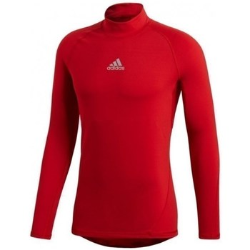 Clothing Men Long sleeved tee-shirts adidas Originals Alphaskin Climawarm Red