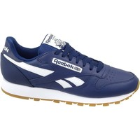 Shoes Men Low top trainers Reebok Sport CL Leather MU White,Navy blue