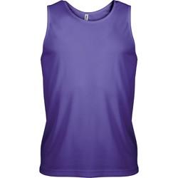 Clothing Men Tops / Sleeveless T-shirts Proact Débardeur  Sport violet