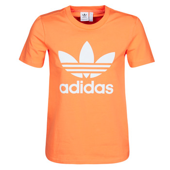 Clothing Women sweaters adidas Originals TREFOIL TEE Orange