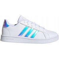 Shoes Women Low top trainers adidas Originals Grand Court K Turquoise,White