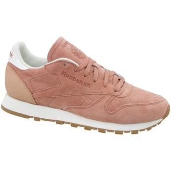 Shoes Women Low top trainers Reebok Sport CL Lthr Bread Amp Pink