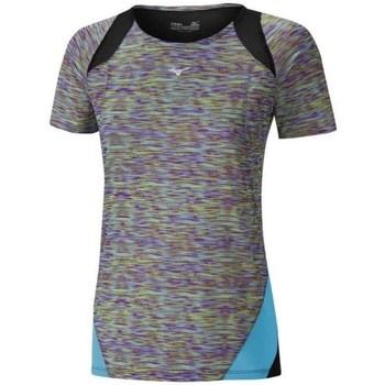 Clothing Women Short-sleeved t-shirts Mizuno Aero Tee Black, Grey, Light blue