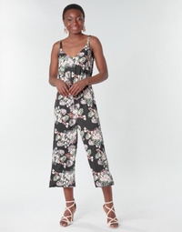 Clothing Women Jumpsuits / Dungarees Vero Moda VMHELENMILO Black / Pink