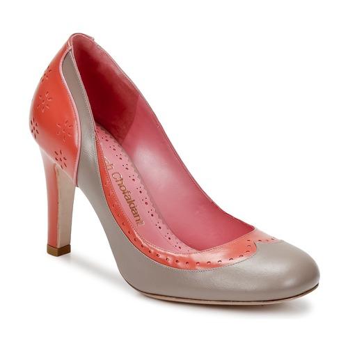 Shoes Women Heels Sarah Chofakian LAUTREC Clay / Salmon
