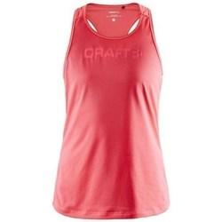 Clothing Women Tops / Sleeveless T-shirts Craft Essence Mesh Singlet W Red
