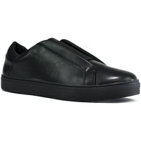 Shoes Men Low top trainers Ascot Men's Gusset Slip On Trainers Black