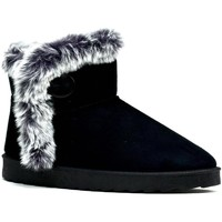 Shoes Women Mid boots Reveal Love Your Look Warm Fur on Fur Ankle Bootie Black