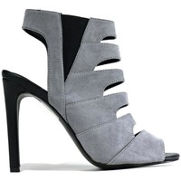 Shoes Women Sandals Hotsoles London Women's Cut Out Stiletto Heel Grey