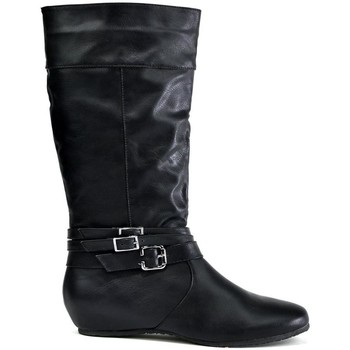 Shoes Women Boots Ice Triple Buckle Calf Boot Black Black
