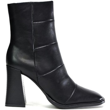 Shoes Women Mid boots Hot Soles Women's Square Toe Block Heel Ankle Boot Black