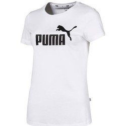 Clothing Women Short-sleeved t-shirts Puma Ess Logo Tee White