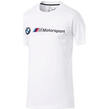 Clothing Men Short-sleeved t-shirts Puma Bmw Mms Logo Tee White