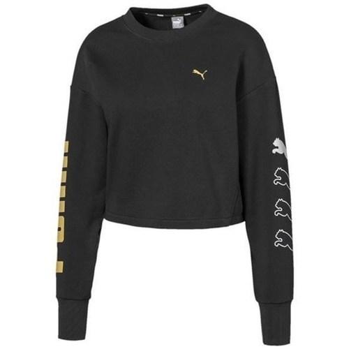 Clothing Women Sweaters Puma Rebel Crew Sweat TR Black