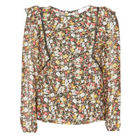 Clothing Women Tops / Blouses Betty London NELIA Black / Multicolour