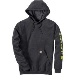 Clothing Sweaters Carhartt Sweatshirt à capuche  Logo gris carbone