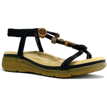 Shoes Women Sandals Reveal Love Your Look Women's Comfort Cushioned Beaded Sandal Black