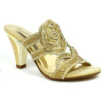 Shoes Women Heels Stictly Rose for Your Feet Elegant Evening Heel Gold