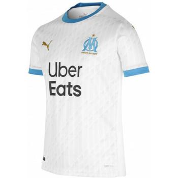 Clothing Boy Short-sleeved t-shirts Puma Maillot domicile enfant OM 2020/21 blanc/bleu azur