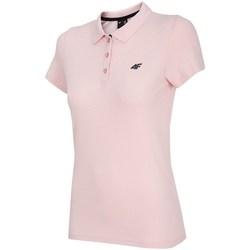 Clothing Women Short-sleeved polo shirts 4F TSD007 Pink