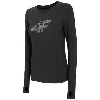Clothing Women Long sleeved tee-shirts 4F TSDLF001 Black