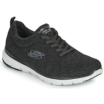 Shoes Women Fitness / Training Skechers FLEX APPEAL 3.0 PLUSH JOY Black