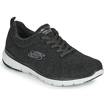 Shoes Women Fitness / Training Skechers FLEX APPEAL 3.0 PLUSH JOY Black