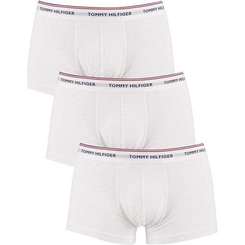 Underwear Men Boxer shorts Tommy Hilfiger 3 Pack Premium Essentials Low Rise Trunks white