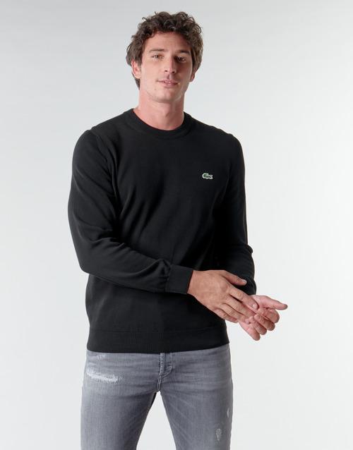 Clothing Men Jumpers Lacoste AH1985 Black