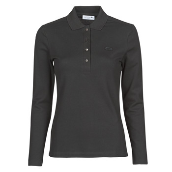 Clothing Women Long-sleeved polo shirts Lacoste PF5464 Black