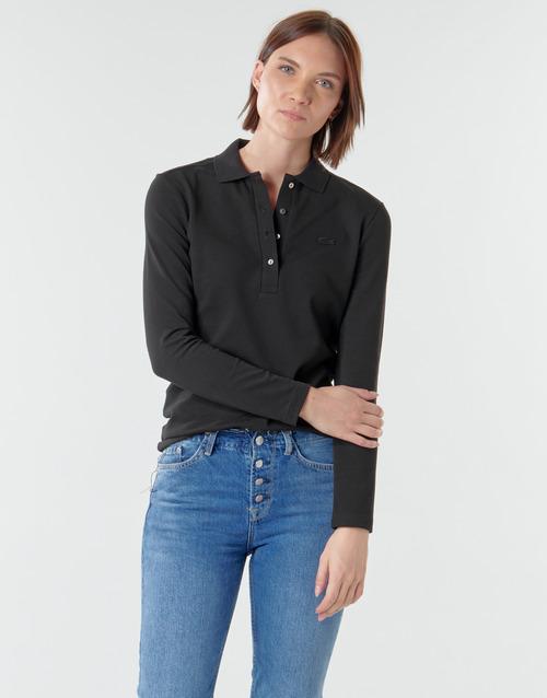 Clothing Women Long-sleeved polo shirts Lacoste PF5464 Black