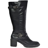 Shoes Women Boots Reveal Love Your Look Your Basic Women's Black Calf Boot Black